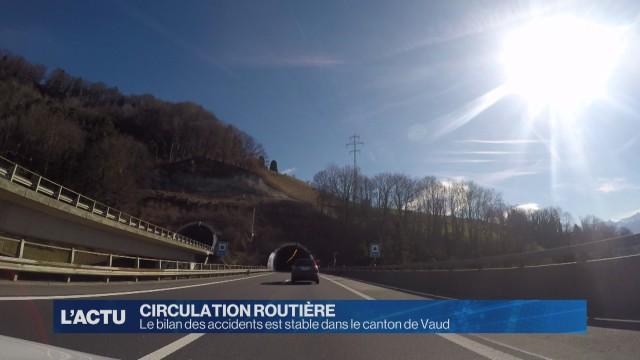 Bilan des accidents stable dans le canton de Vaud