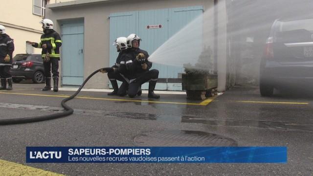 Les sapeurs pompiers volontaires en formation