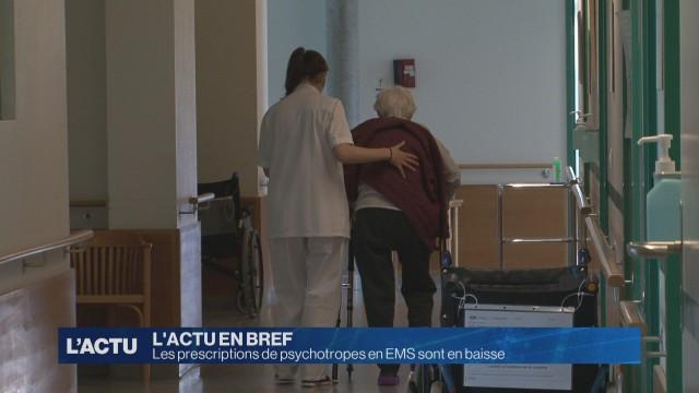 Prescriptions de psychotropes en baisse dans les EMS