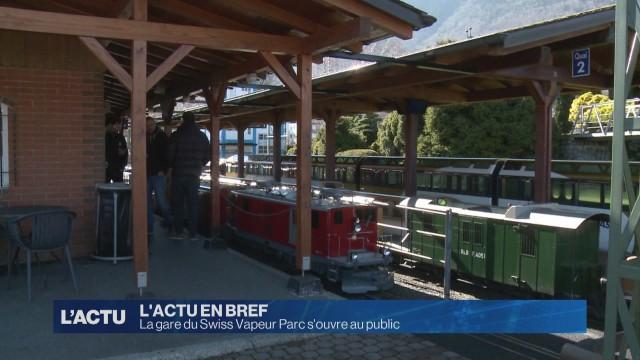 La gare du Swiss Vapeur Parc s'ouvre au public