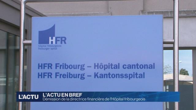 Démission de la directrice financière de l'HFR