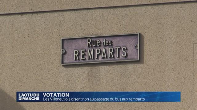 Les Villeneuvois disent non au passage du bus aux remparts.