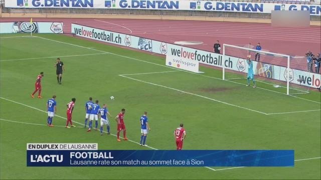 Lausanne rate son match au sommet face à Sion