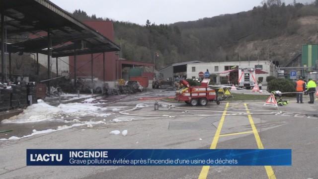 Pollution évitée après l'incendie d'une usine de déchets