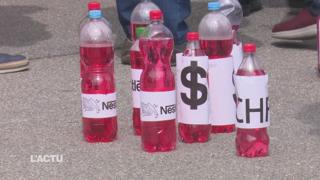 Manifestation contre Nestlé
