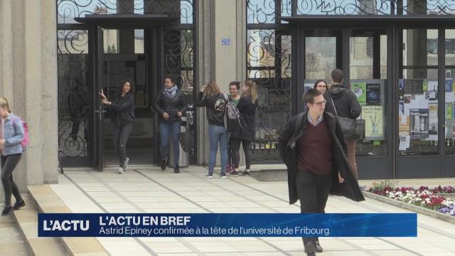 Astrid Epiney confirmée à la tête de l'université