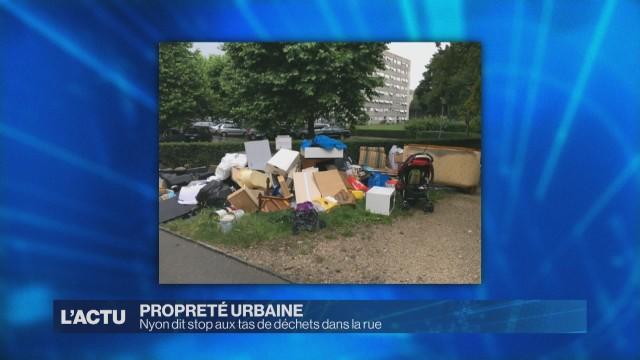Nyon dit stop aux tas de déchets dans la rue