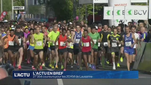 27'354 inscrits pour les 20 Km de Lausanne