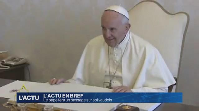 Le pape fera un passage sur sol vaudois
