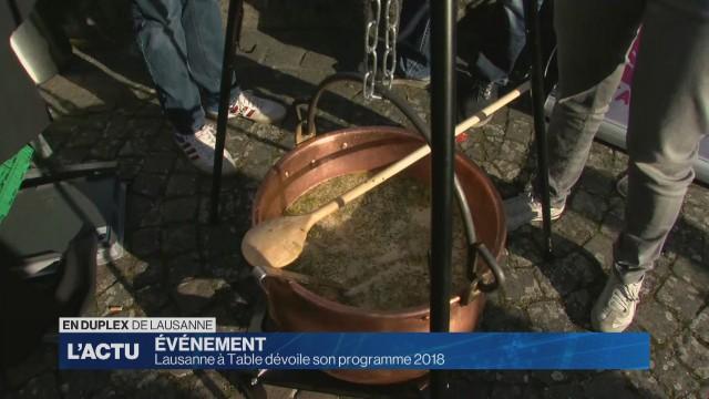 Lausanne à table dévoile son édition 2018