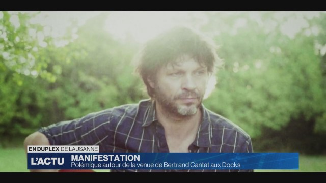 Manifestation contre la venue de Bertrand Cantat aux Docks