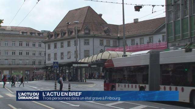 Trois personnes dans un état grave à Fribourg