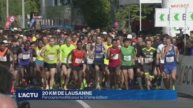 500 mètres en plus pour les 20 km de Lausanne