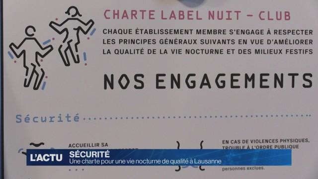 Une charte pour une vie nocturne de qualité à Lausanne
