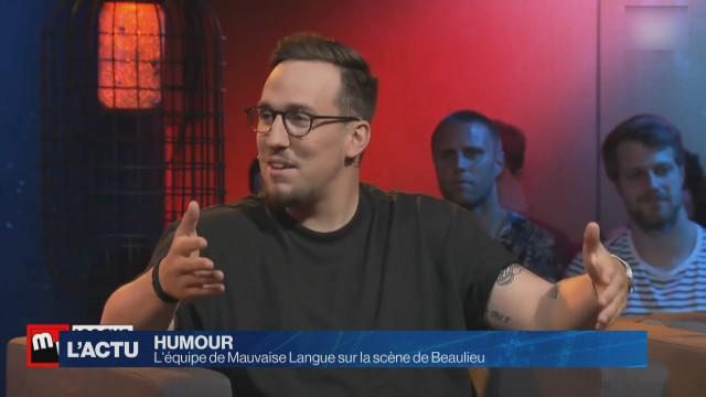 L'équipe de Mauvaise Langue sur la scène de Beaulieu