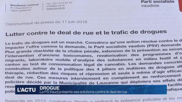 Le PS Vaud présente ses solutuions contre le deal de rue