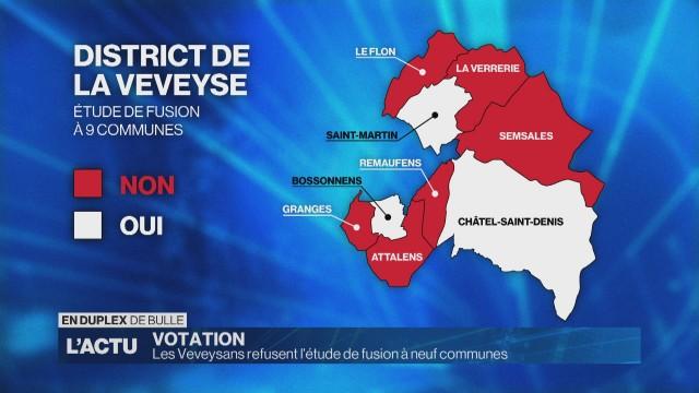 Les Veveysans refusent l'étude de fusion à neuf communes