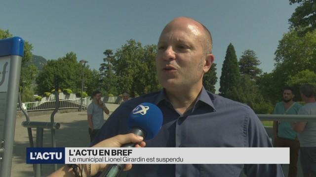 Le municipal Lionel Girardin est suspendu