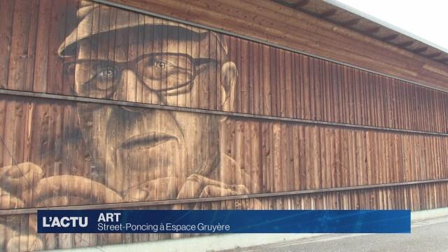 Une fresque géante à Espace Gruyère