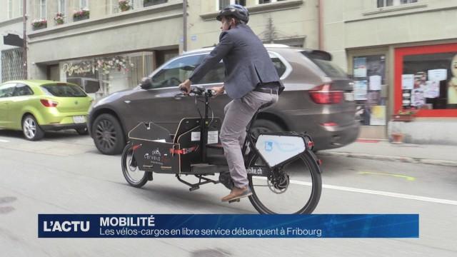 Les vélos-cargos électriques débarquent à Fribourg