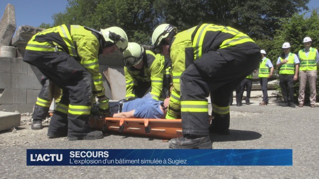 L'explosion d'un bâtiment simulée à Sugiez