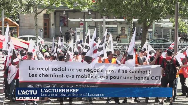 Les cheminots manifestent à Lausanne