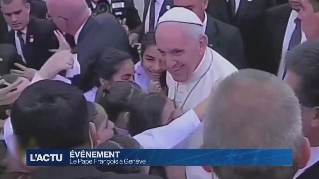 Le pape François très attendu à Genève