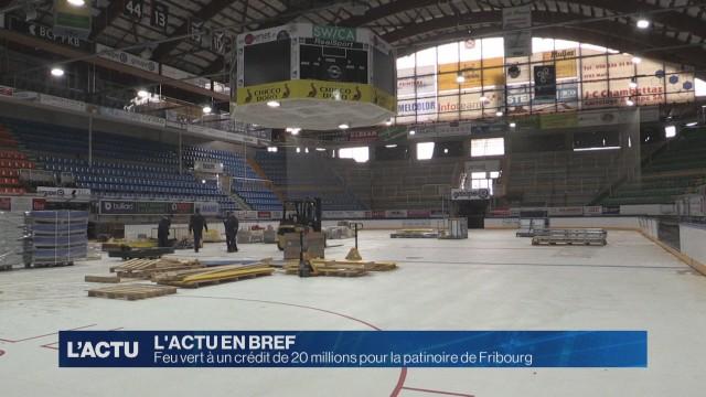 Soutien du canton de Fribourg pour la patinoire