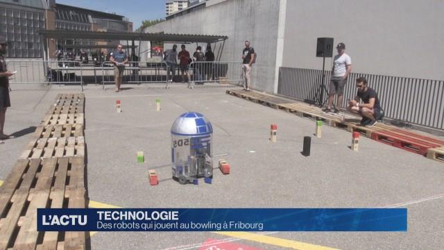 Robot bowling à la HEIA de Fribourg