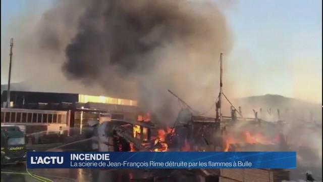 La scierie de Jean-François Rime détruite par les flammes