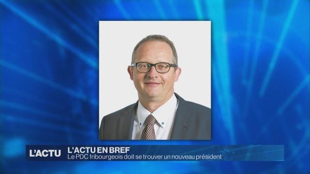 Le PDC fribourgeois doit se trouver un nouveau président