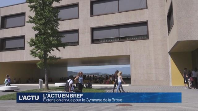 Extension en vue pour le Gymnase de la Broye