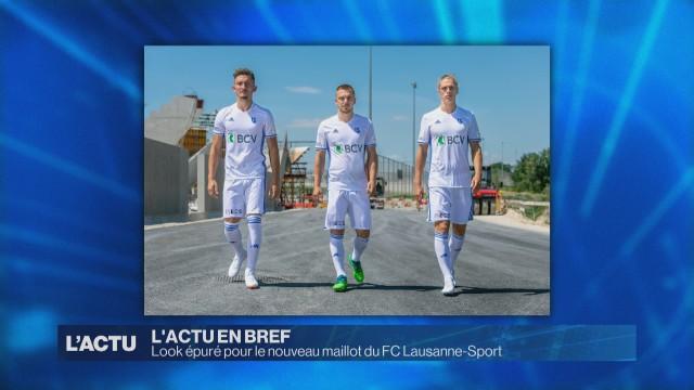 Look épuré pour le nouveau maillot du FC Lausanne-Sport