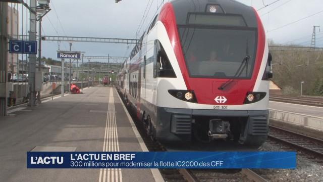 300 millions pour moderniser la flotte IC2000 des CFF