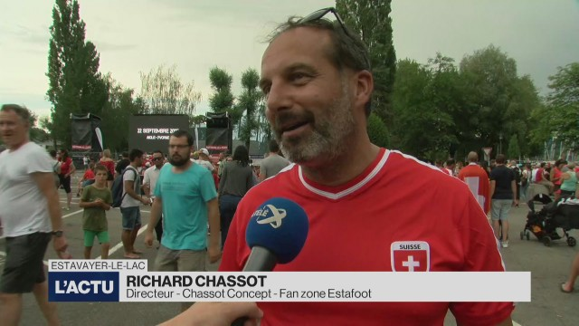 Une nouvelle fan zone à Estavayer-le-lac