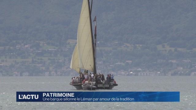 Une barque sillonne le Léman par amour de la tradition