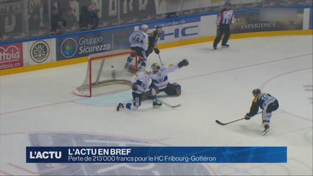 Perte de 213'000 francs pour le HC Fribourg-Gottéron