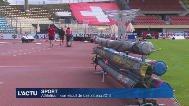 Athletissima se réjouit de son plateau 2018