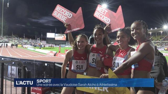 Une soirée avec la Vaudoise Sarah Atcho à Athletissima