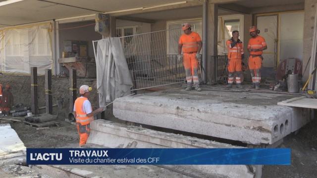 Visite du chantier estival des CFF