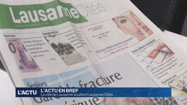 Lausanne Cités soutenu par la ville de Lausanne