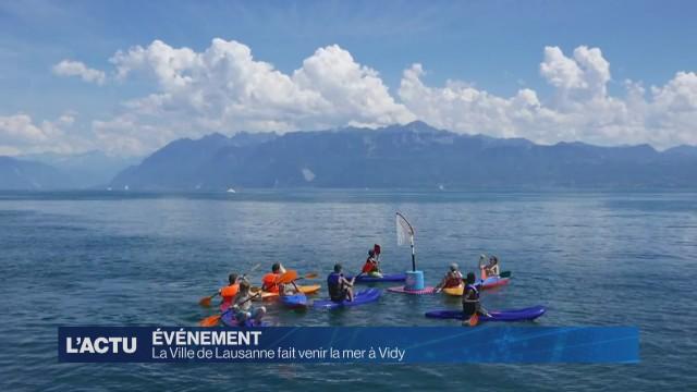 La Ville de Lausanne fait venir la mer à Vidy
