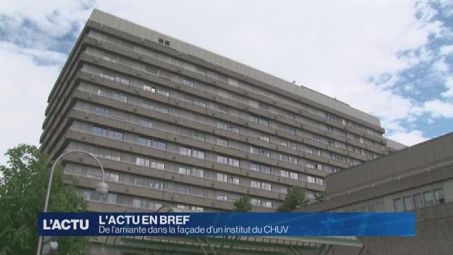 De l'amiante dans la façade d'un institut du CHUV