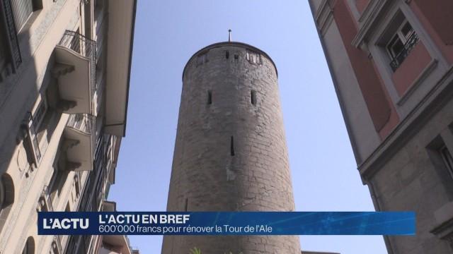 600'000 francs pour rénover la Tour de l'Ale