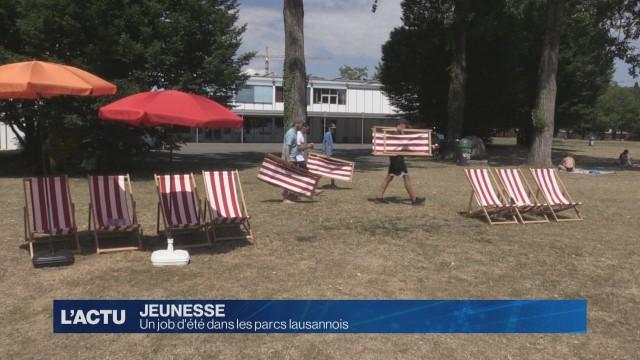 Un job d'été dans les parcs lausannois