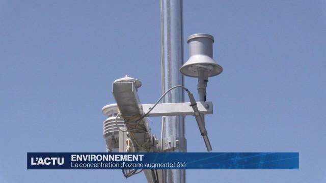 La concentration d'ozone dans l'air augmente l'été