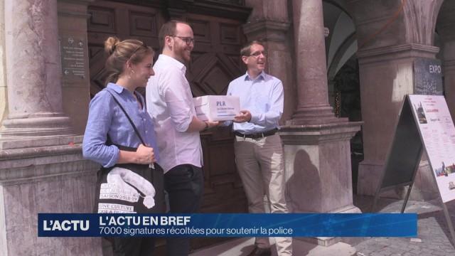 7000 signatures pour soutenir la Police de Lausanne