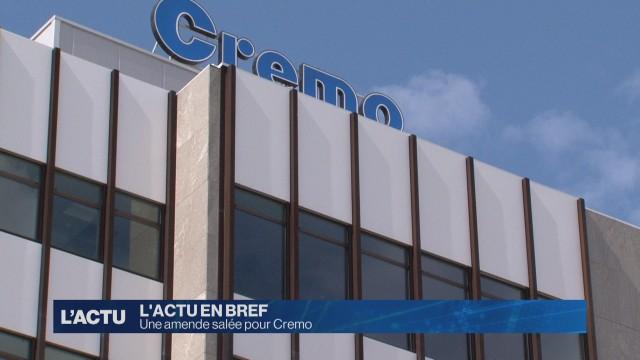 Une amende salée pour Cremo
