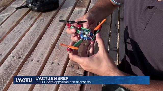 L'EPFL développe un drone incassable