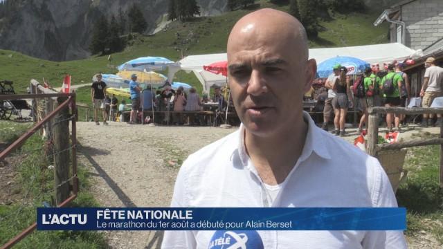 Le 1er août a déjà débuté mardi pour Alain Berset